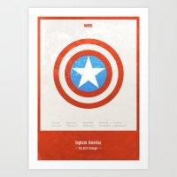 Captain America - Minima… Art Print