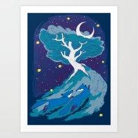 Summer Foxes Art Print