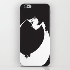Girl in Black iPhone & iPod Skin