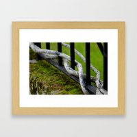 Tree Fence Framed Art Print