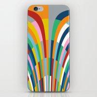 Rainbow Bricks iPhone & iPod Skin