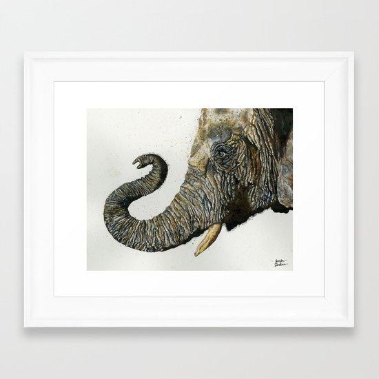 Elephant Cyril Framed Art Print