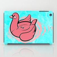 Swan Pool Float iPad Case
