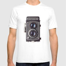 yashica Mens Fitted Tee SMALL White