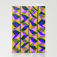 Hand drawn and digital wonky zig zags pattern Stationery Cards