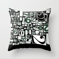 Numbers by Friztin Throw Pillow