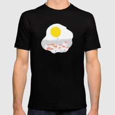 Breakfast Day  Black Mens Fitted Tee SMALL
