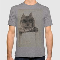 cat on the table Mens Fitted Tee Athletic Grey SMALL
