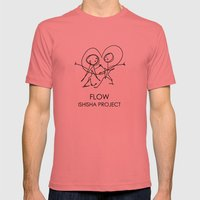 FLOW by ISHISHA PROJECT Mens Fitted Tee Pomegranate SMALL