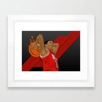 D Rose Framed Art Print