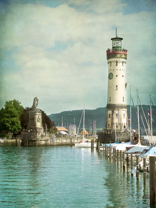 LINDAU LIGHTHOUSE - LAKE OF CONSTANCE Art Print
