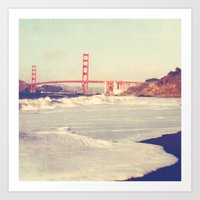 Golden Gate bridge. San Francisco photograph Art Print