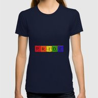 Pride Tile Womens Fitted Tee Navy SMALL