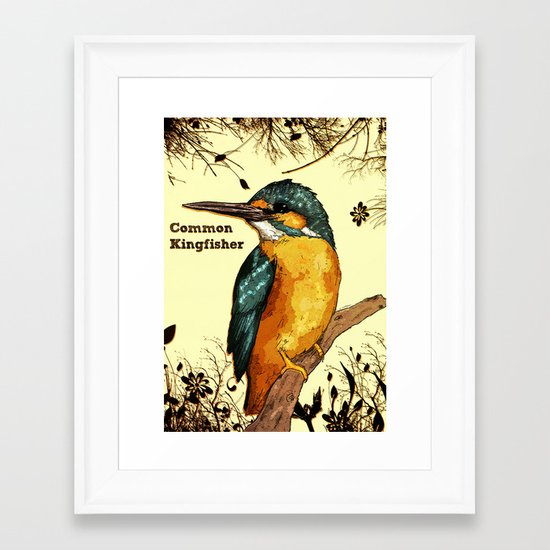 Common Kingfisher Framed Art Print