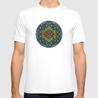 The Flower of Life (Sacred Geometry) Mens Fitted Tee White SMALL