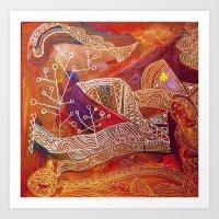 golden maze Art Print