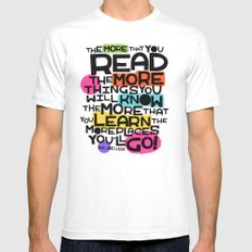 the more you that you read SMALL Mens Fitted Tee White