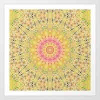 Meadow A Maise Mandala Art Print