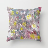 The Blindfolded Throw Pillow