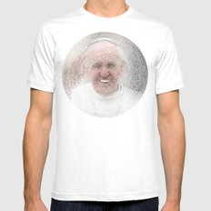 ArcFace - Papa Francesco Mens Fitted Tee White SMALL