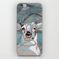 Aqua Deer  iPhone & iPod Skin