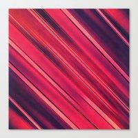 Moder Red / Black Stripe  Abstract Stream Lines Textuer Design  Canvas Print