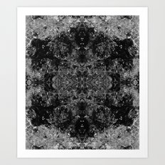 River Foam Snowflake Art Print