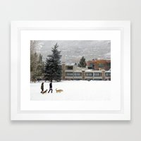 Snow Dogs I Framed Art Print