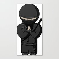 Ninja Bow Canvas Print