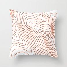 Contours I Throw Pillow