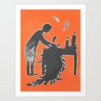 Icarus And Daedalus VI Art Print