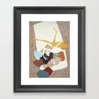 I's Drown In Burgundy Fo… Framed Art Print