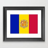 Flag Of Andorra Framed Art Print