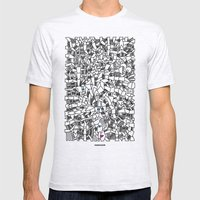 - Fresque_01 - Mens Fitted Tee Ash Grey SMALL