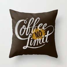 Astronaut Diet, Unlimited Coffee Throw Pillow