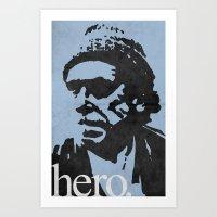 Charles Bukowski - Hero. Art Print