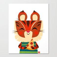 Pizza Tiger Canvas Print