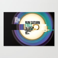 Run Saturn Fall Canvas Print