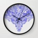 Little Blue Deer Wall Clock