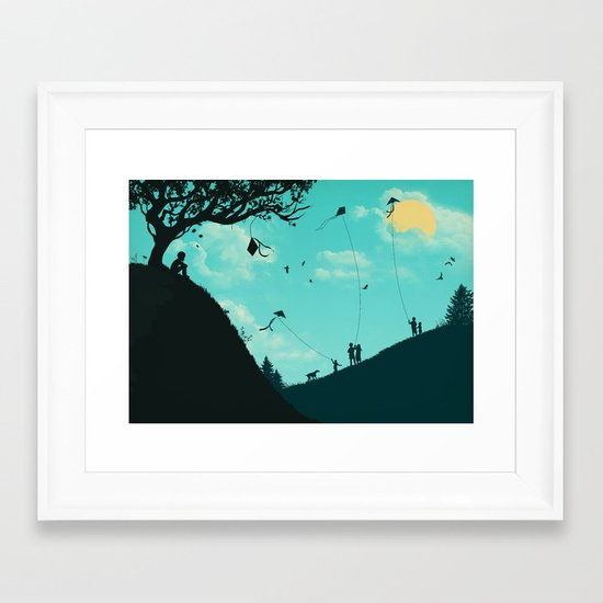On Melancholy Hill Framed Art Print