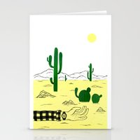 Man & Nature - The Deser… Stationery Cards