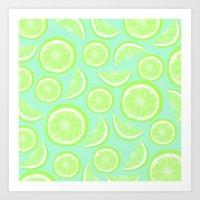 Simply Lime Mint Art Print