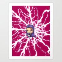 Chibi Psylocke Art Print
