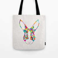 Rainbow Rabbit Tote Bag