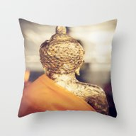 Buddha The Other Side  Throw Pillow