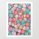 It's Always Summer Somewhere - bright poppy floral Art Print