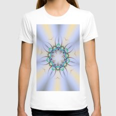 Fern Kaleidoscope Womens Fitted Tee White SMALL