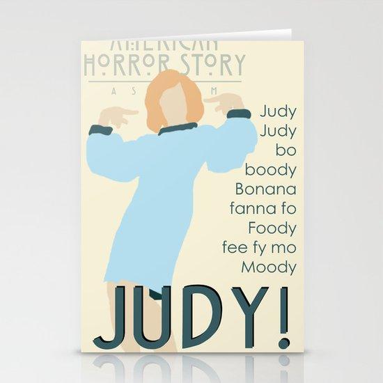 Judy Martin - Name Game w/Judy Lyrics Stationery Card