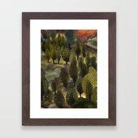 The hill. Framed Art Print