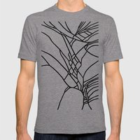 Crack Mens Fitted Tee Tri-Grey SMALL